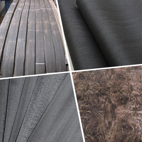 black wood veneer