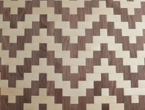 woven maple and walnut veneer