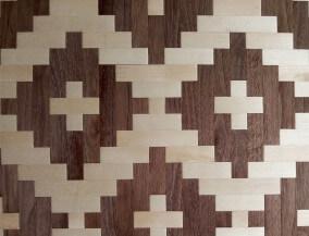 woven walnut maple veneer