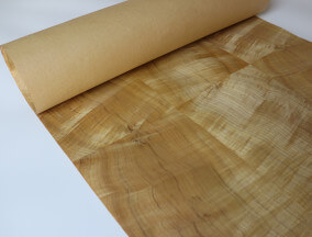 Paper back Gold Nanmu Veneer sheet