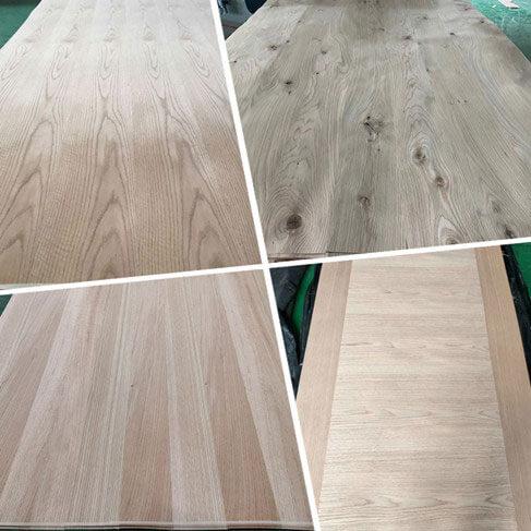 matched oak veneer