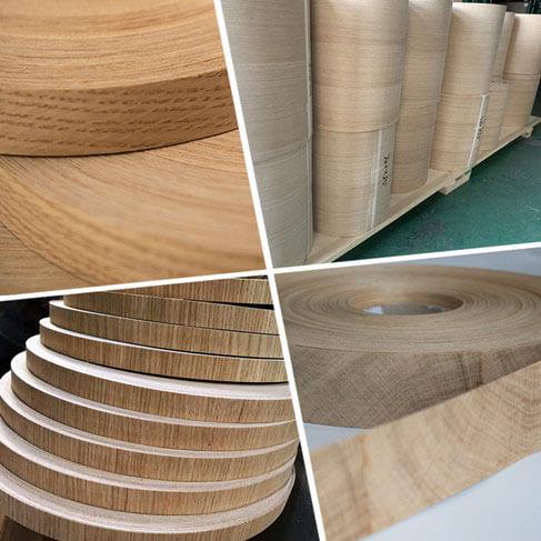oak veneer rolls
